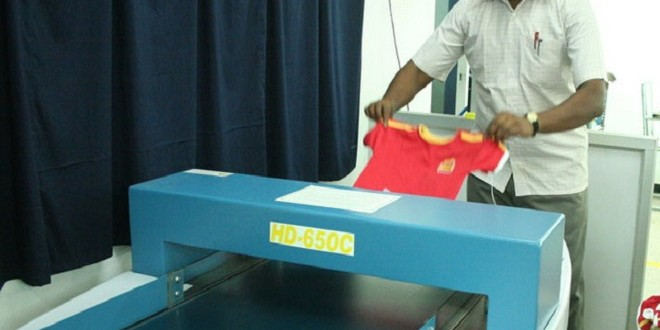 Metal Detection Process in the Garments Industry