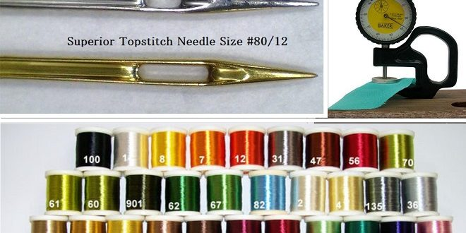 Relation between thread size, needle size and fabric thickness