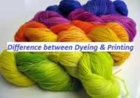 Difference between Dyeing and Printing