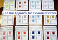 Merchandising Tasks of Lab Dip Approval for an Apparel Order