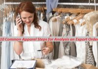 10 Common Apparel Steps for Analysis an Export Order