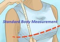 Standard Body Measurement for Gents and Ladies